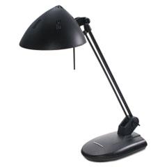 "High-Output Three-Level Halogen Desk Lamp, 13-1/4"" Reach, Matte Black"