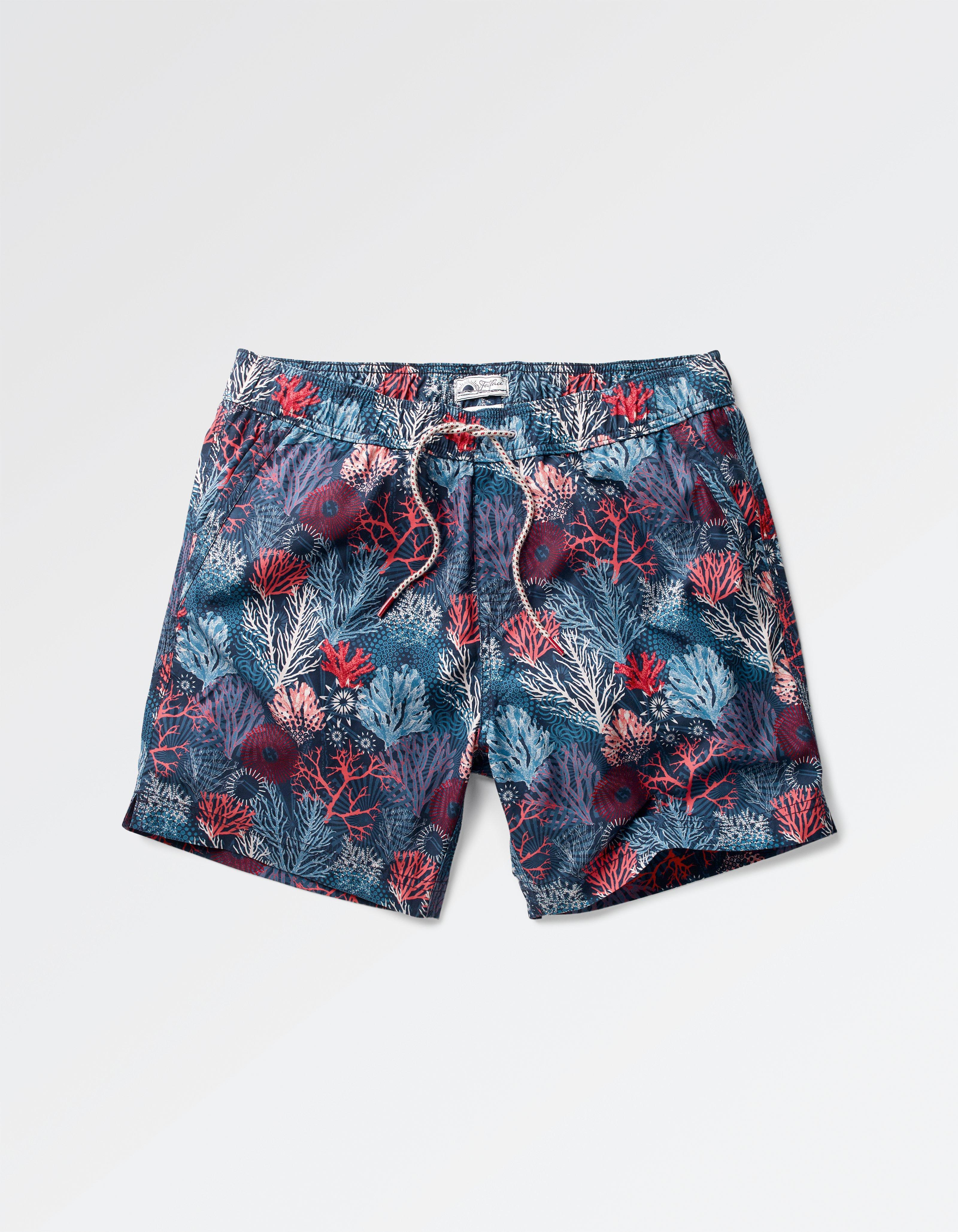 fat face coral print swim shorts