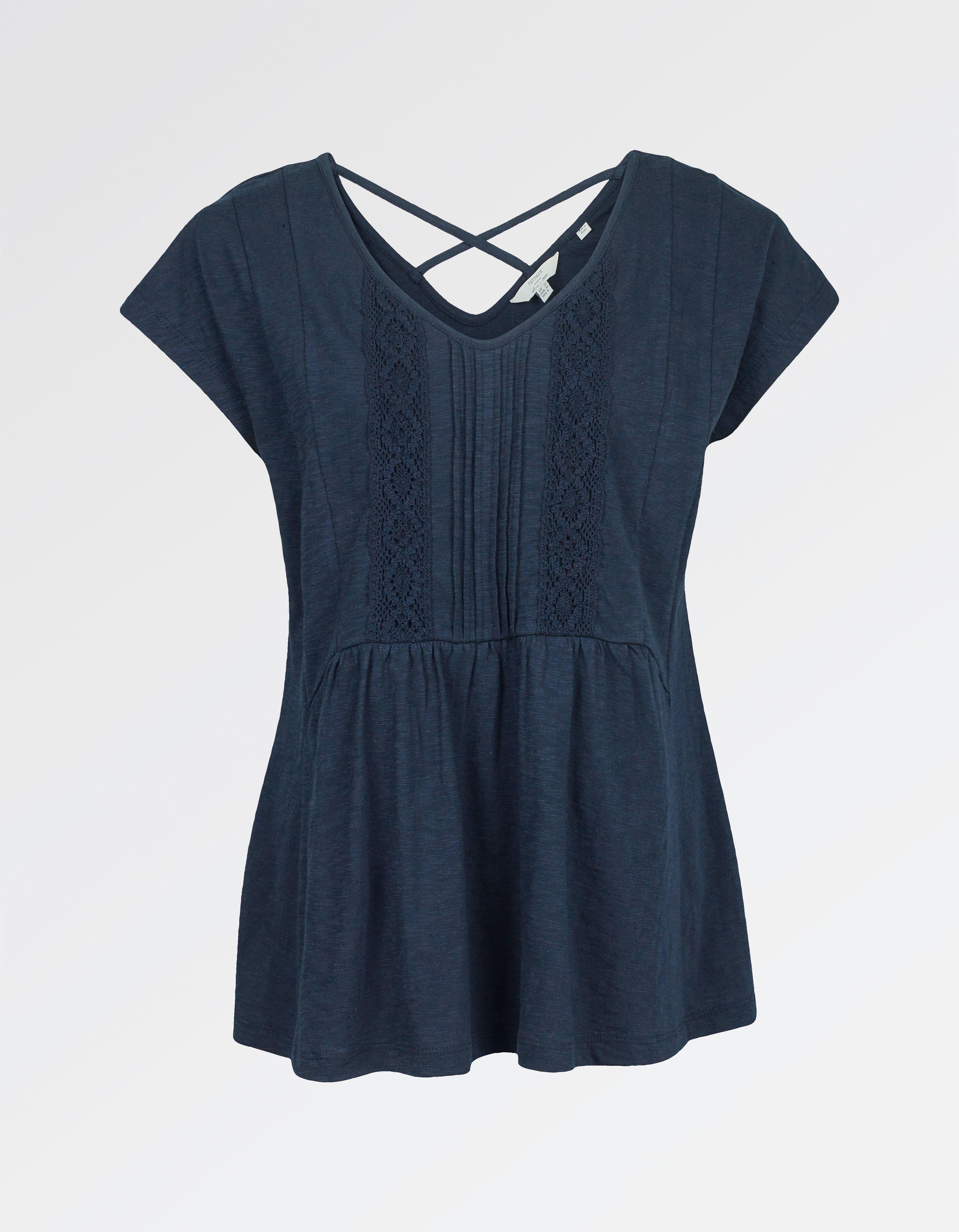 fat face lace peplum t-shirt