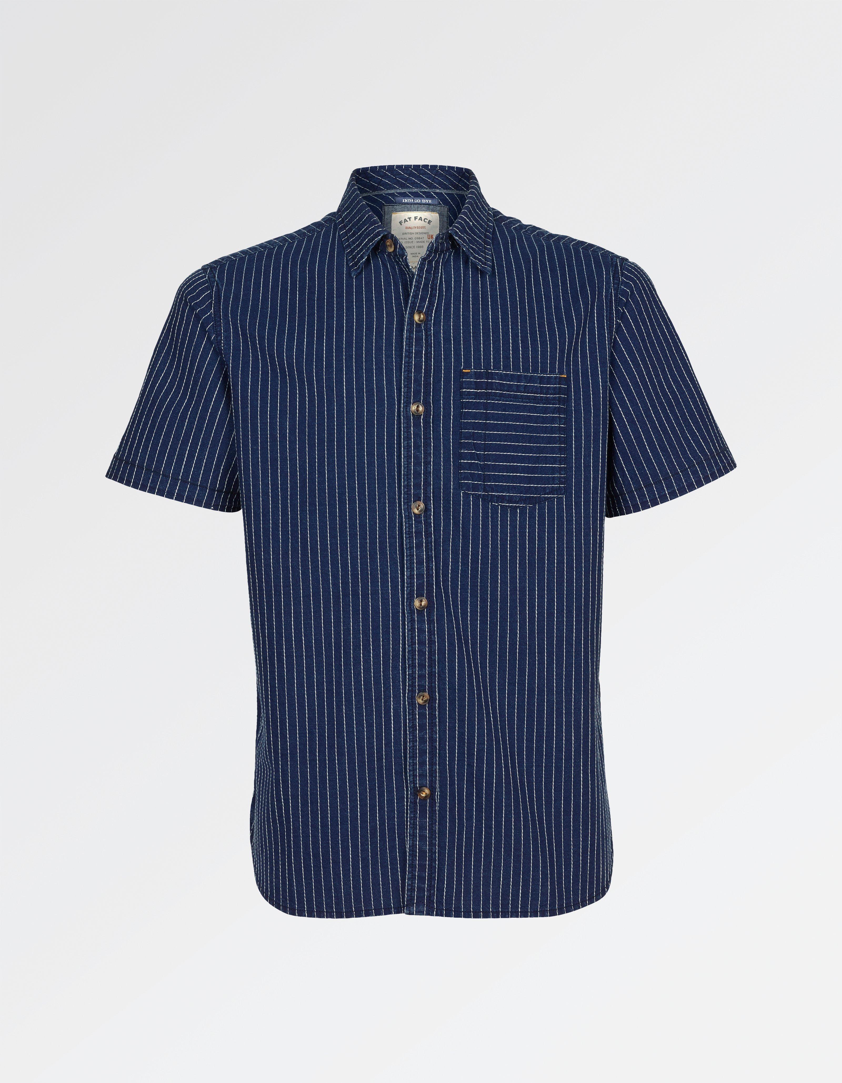 fat face hurst dobby stripe shirt