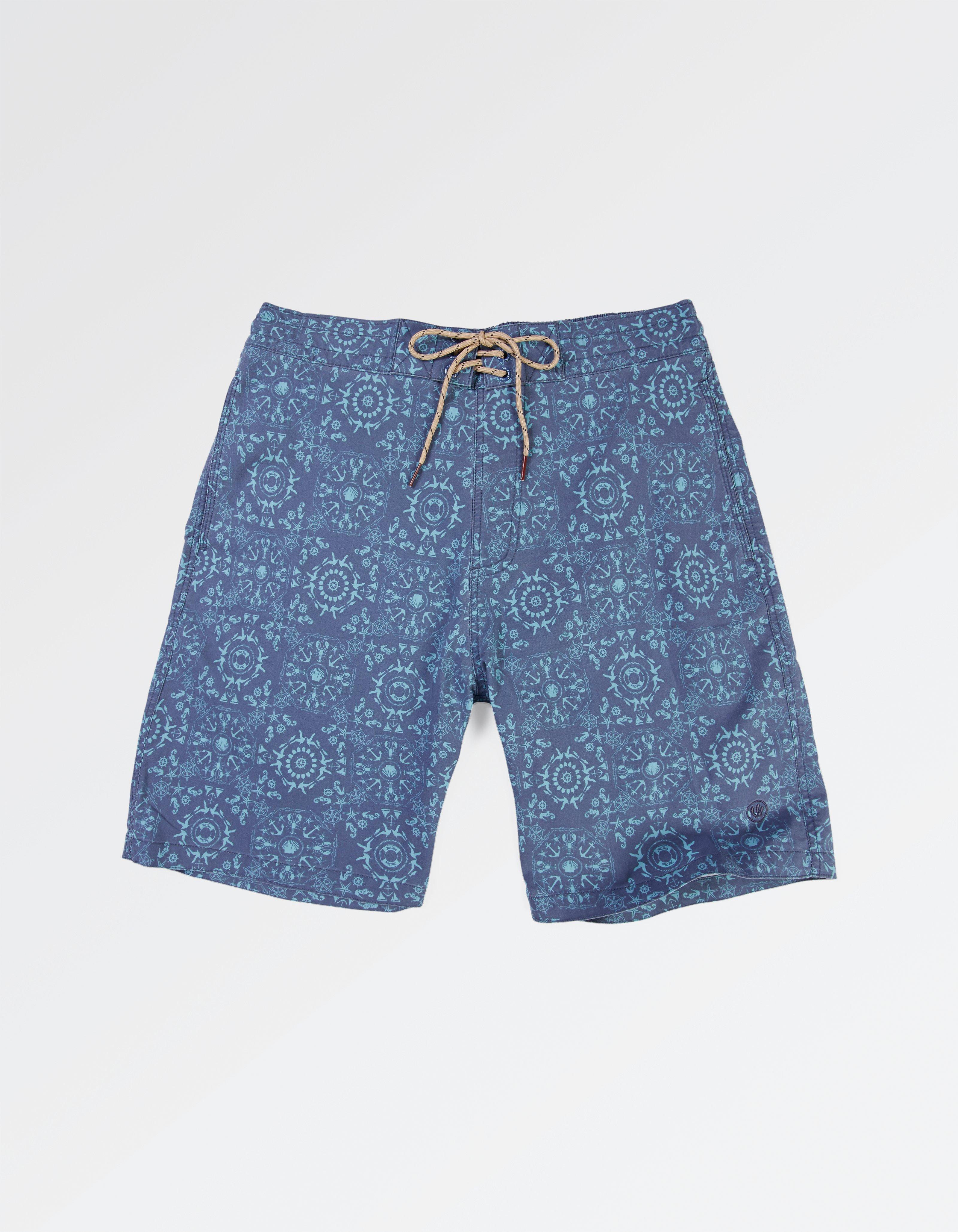 fat face camber tile print swim shorts