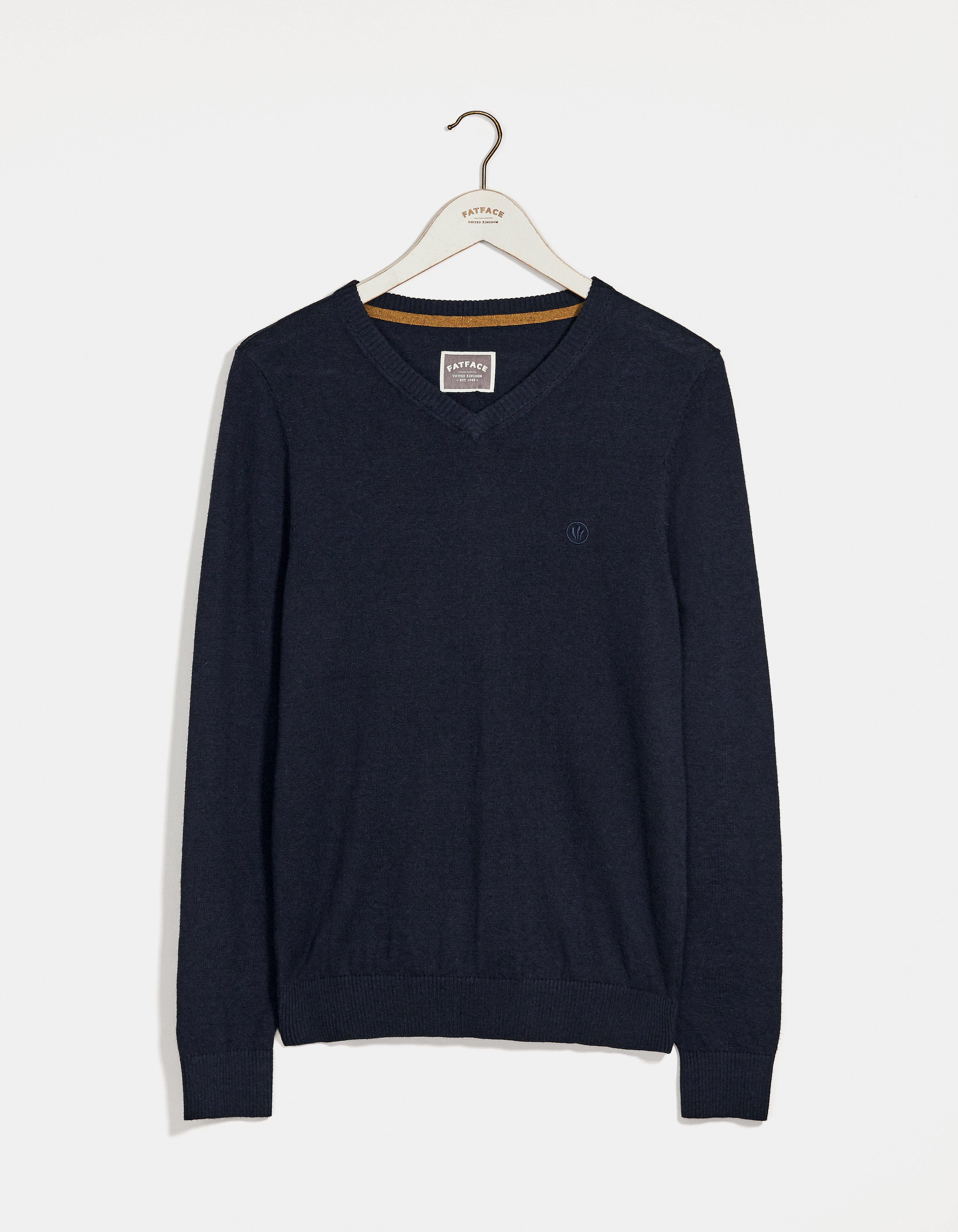 fat face cotton cashmere v-neck sweater