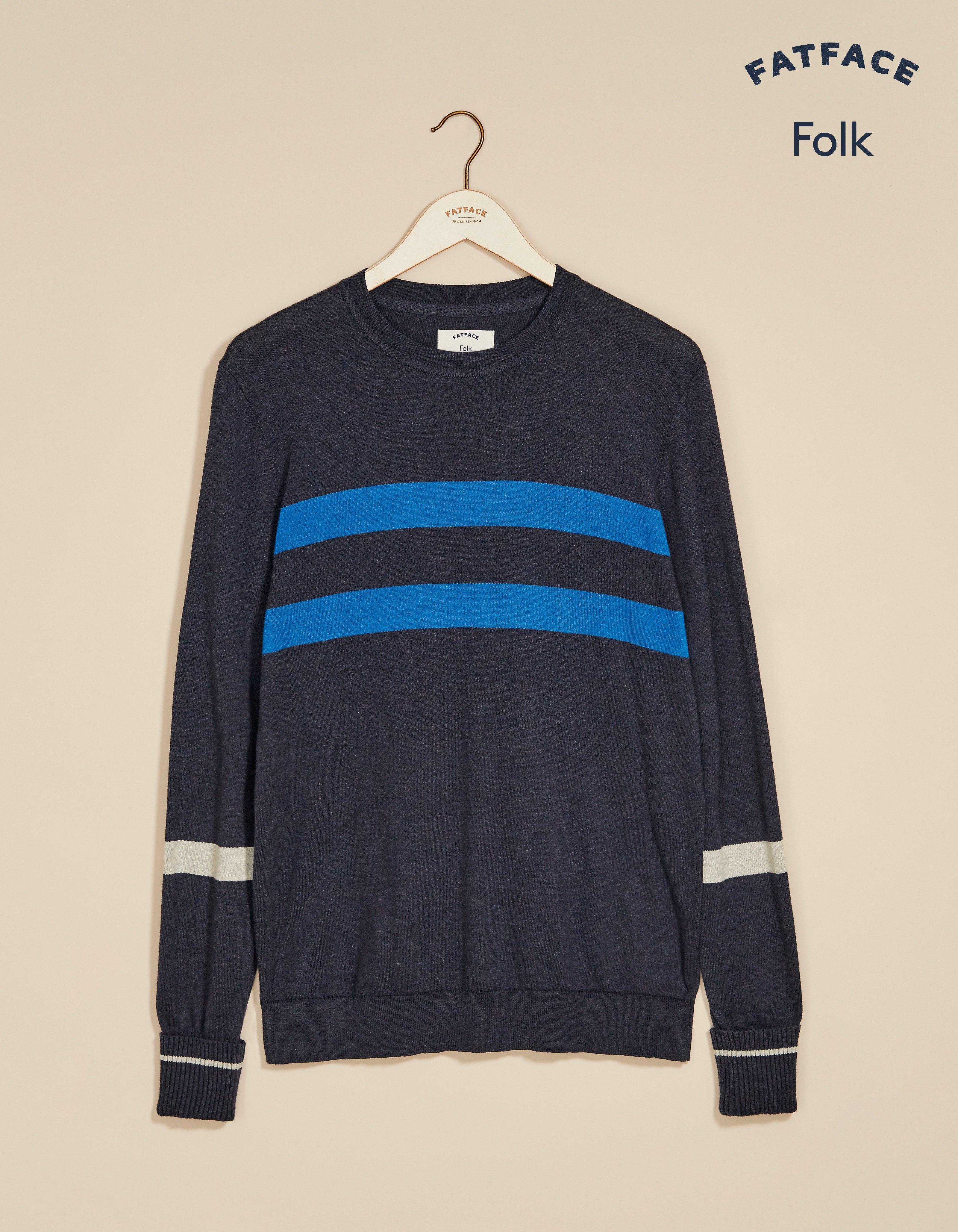 fat face folk pointelle crew neck sweater