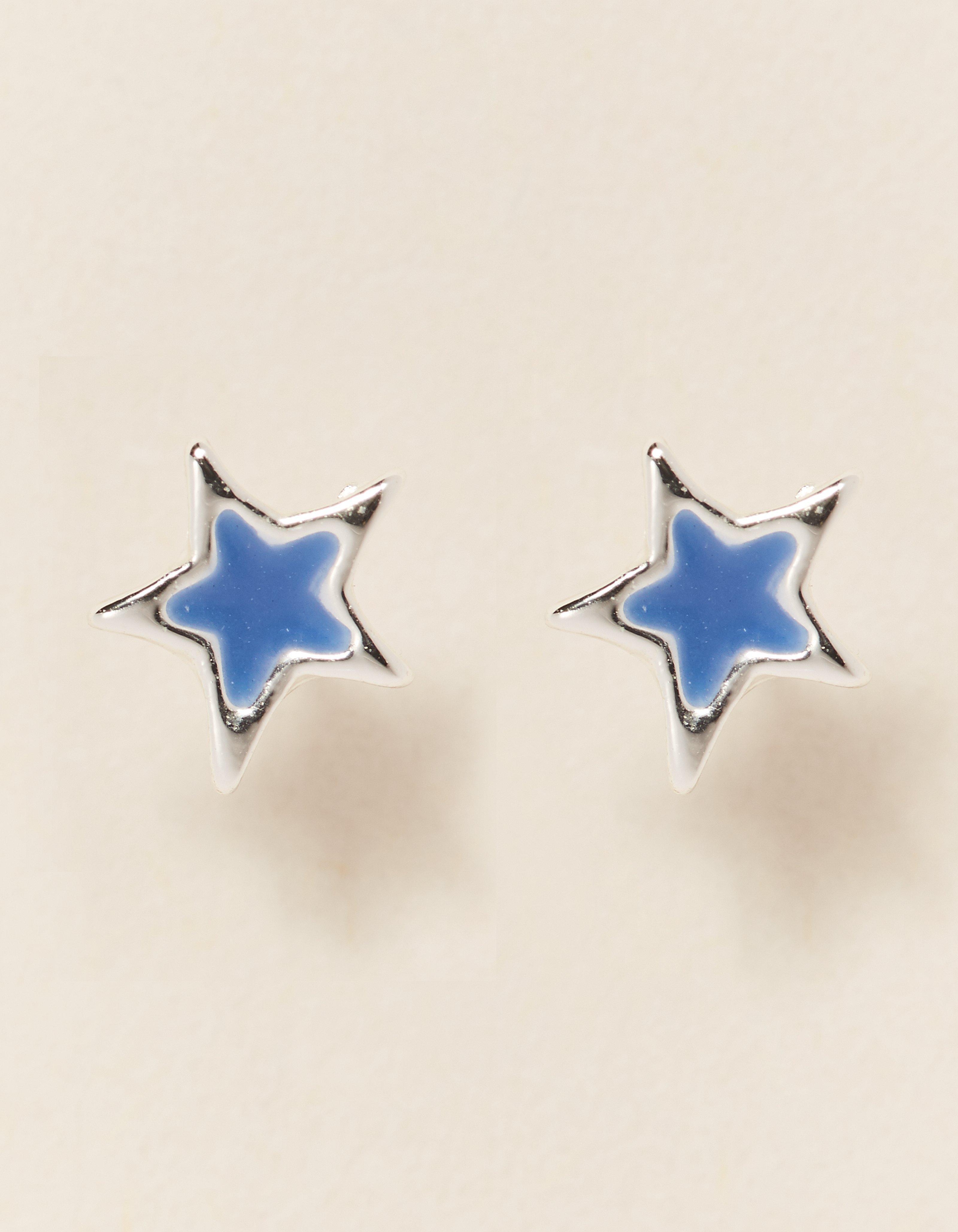 fat face enamel star stud earrings