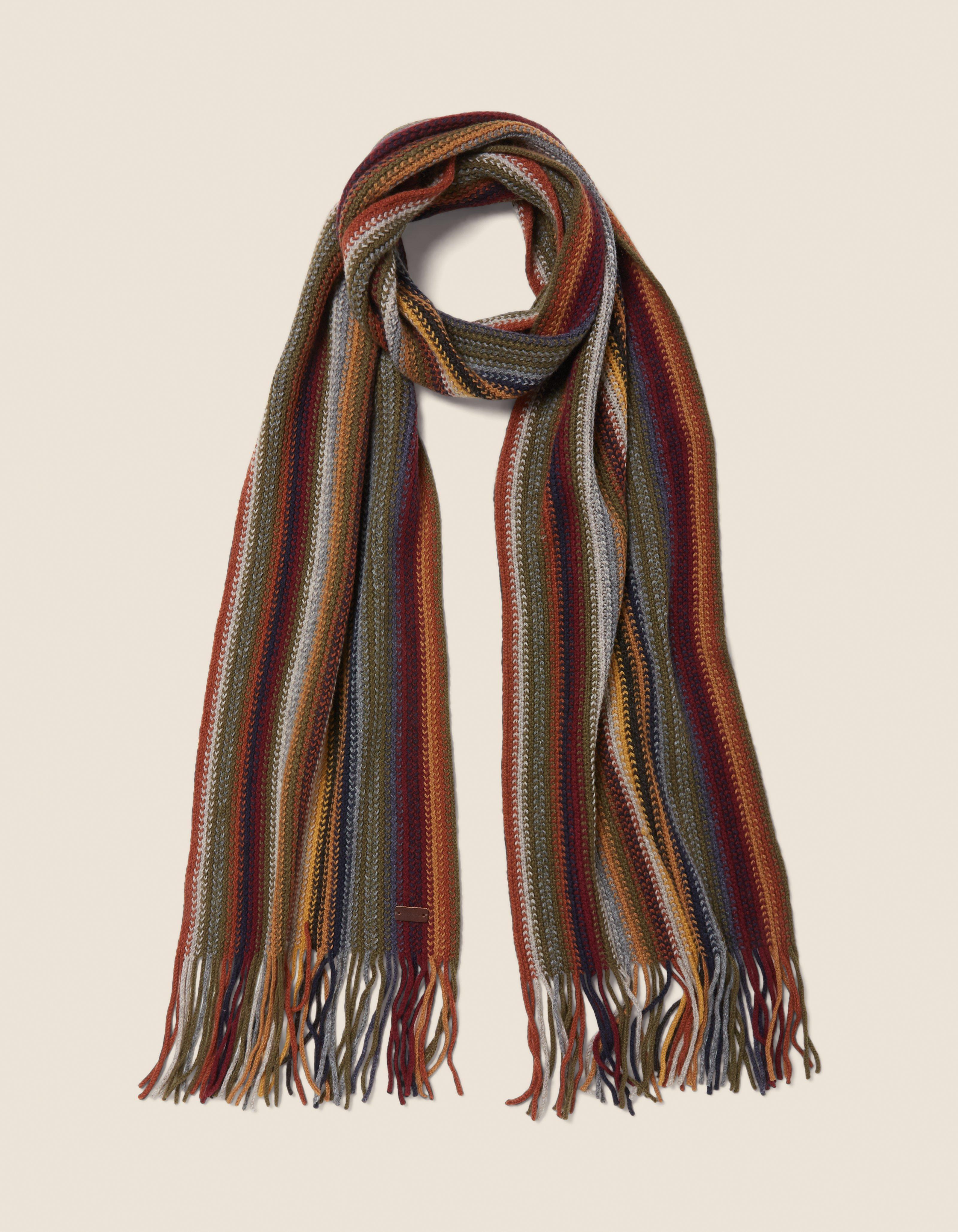 fat face multi stripe scarf