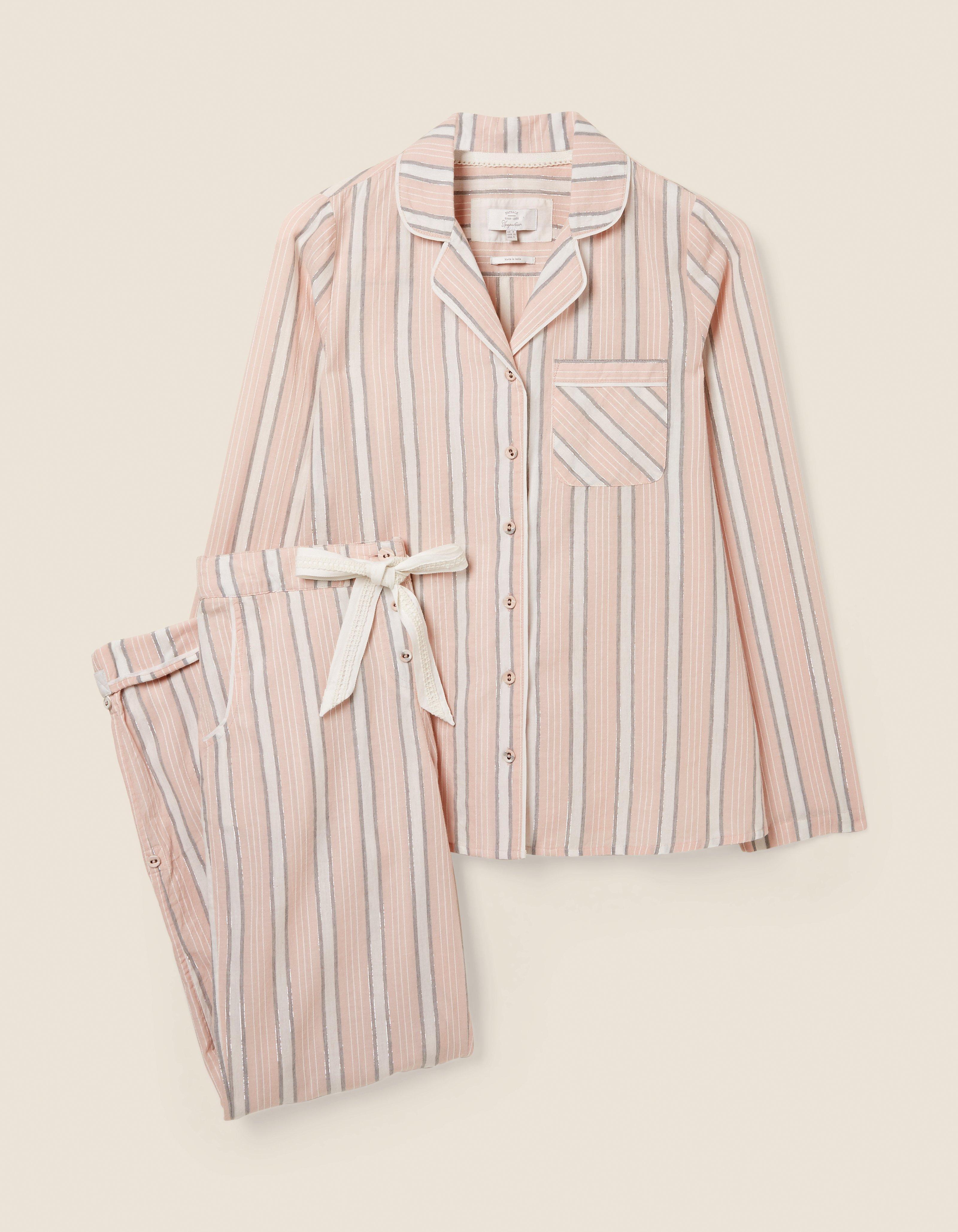 fat face striped pajama set