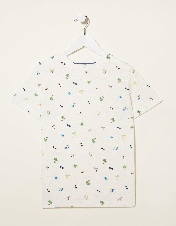 Fat Face Holiday Print T-Shirt