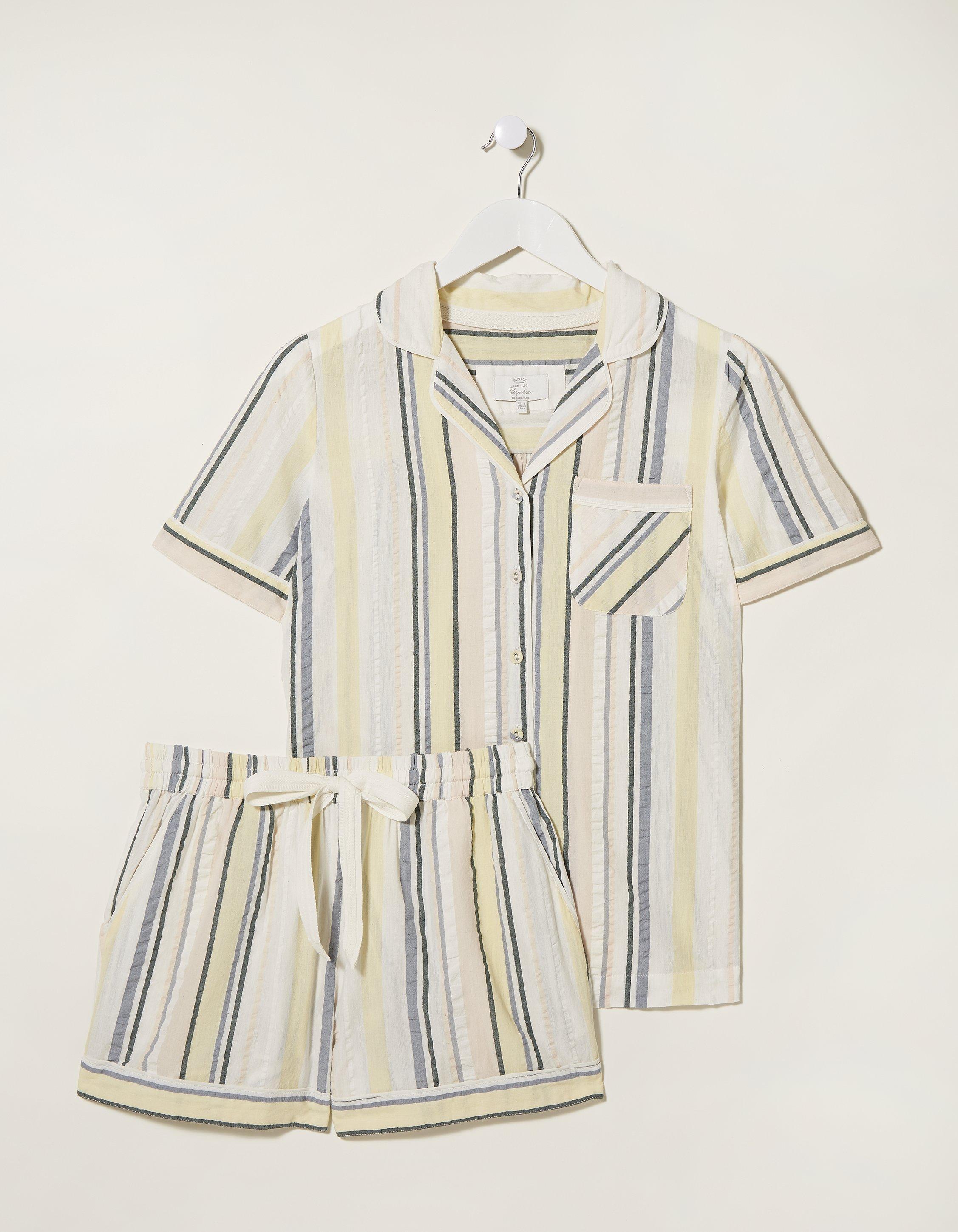 Fat Face Cotton Stripe Short Pajama Set