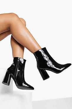 Block Heel Sock Boots