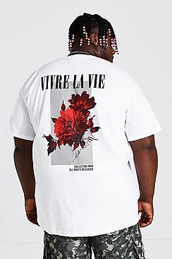Plus Size Floral Back Print T-Shirt