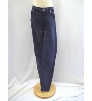 7 for all mankind high waist skinny jeans indigo blue size: xs