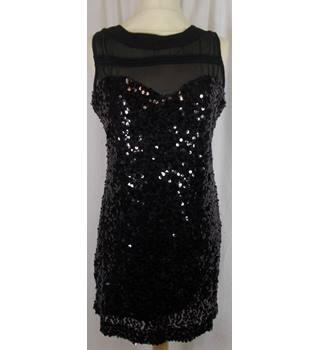 madam rage cocktail dress black size: 12