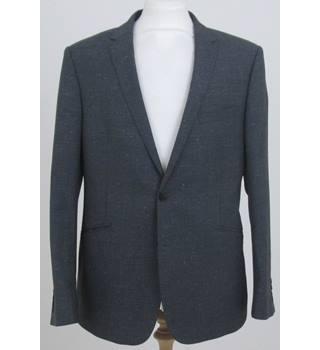 Kin By John Lewis Flecked Suit Jacket Grey/White Size: Xl