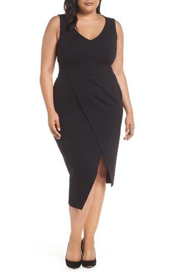 plus size women's ashley graham x marina rinaldi oceanino body-con dress