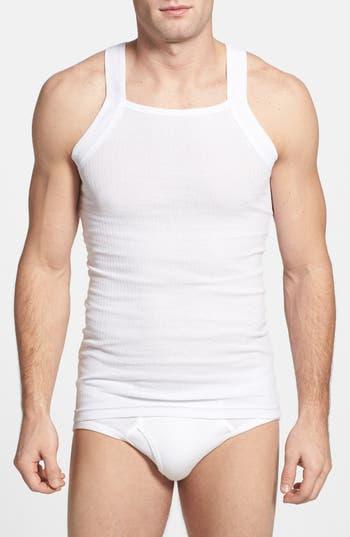 men's 2(x)ist 2-pack cotton tank top, size medium - white