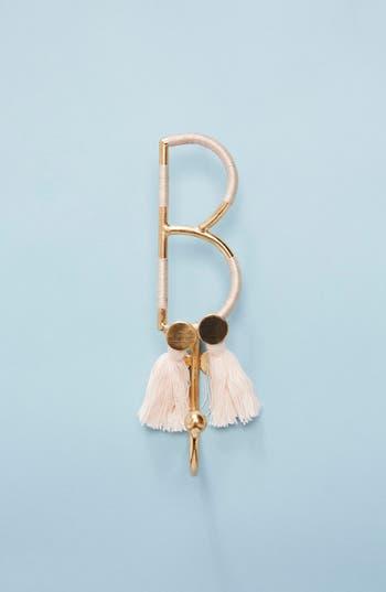 anthropologie fringe monogram hook, size one size - pink