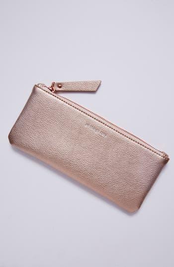 anthropologie idiom pencil case - pink